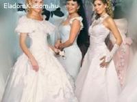Menyasszonyi és egyéb ruhák.